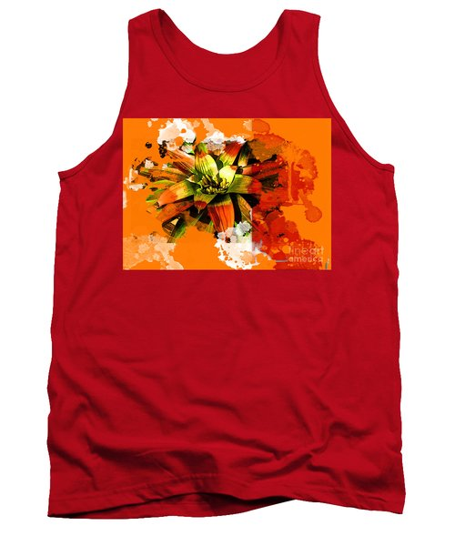 Orange Tropic Tank Top