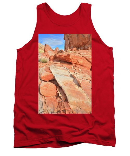 Orange Valley In Valley Of Fire Tank Top by Ray Mathis