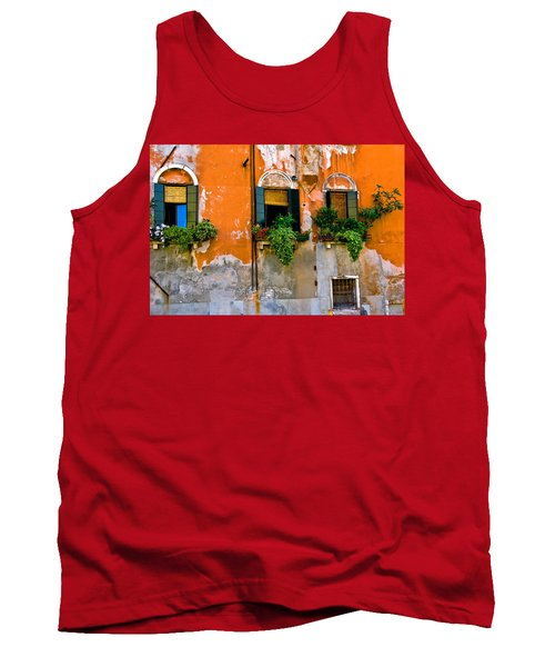 Orange Wall Tank Top by Harry Spitz