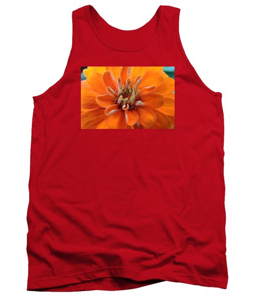 Orange Zinna Tank Top