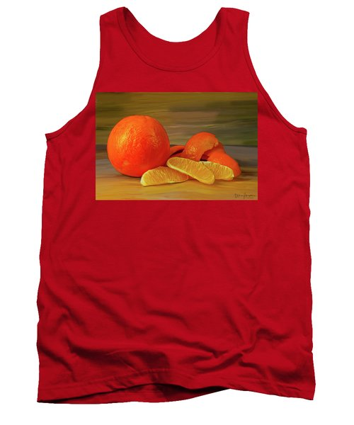Oranges 01 Tank Top by Wally Hampton