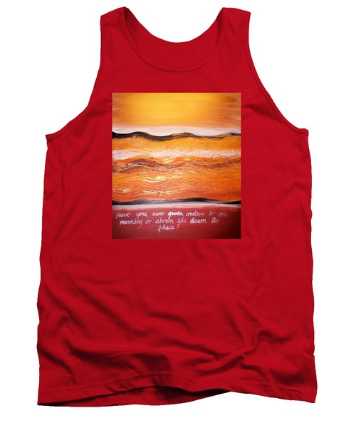 Tank Top featuring the painting Orders To The Morning by Winsome Gunning