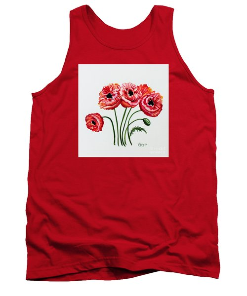 Tank Top featuring the painting Oriental Poppies by Elizabeth Robinette Tyndall