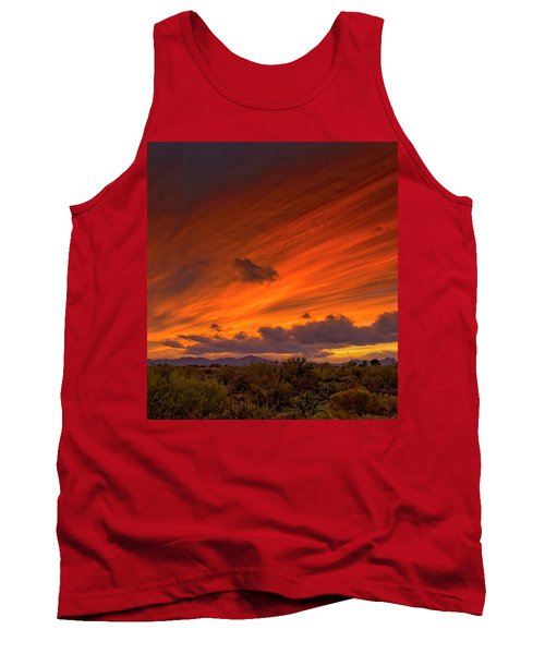 Tank Top featuring the photograph Oro Valley Sunset H6 by Mark Myhaver