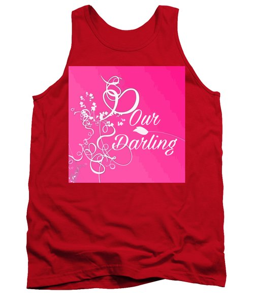 Our Darling On Pink Background Tank Top