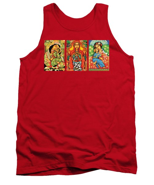 Madonnas With Child Tank Top by Eva Campbell