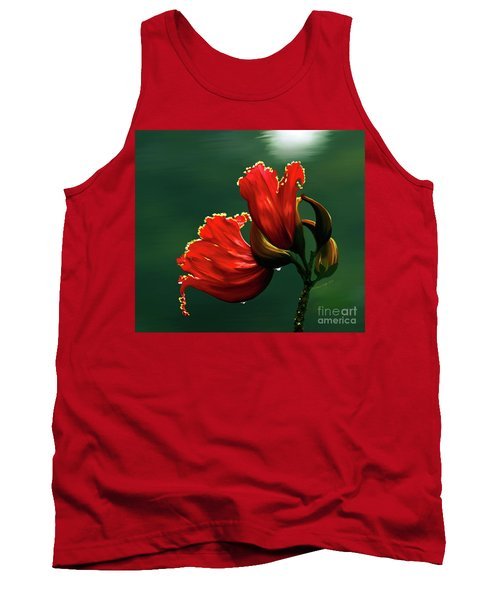 Out Of Africa- Mixed Media- Photo Composite- Altered Art Tank Top