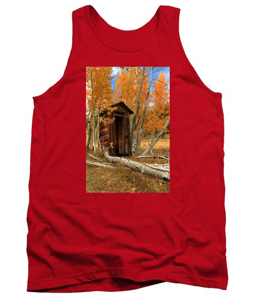 Outhouse In The Aspens Tank Top by James Eddy