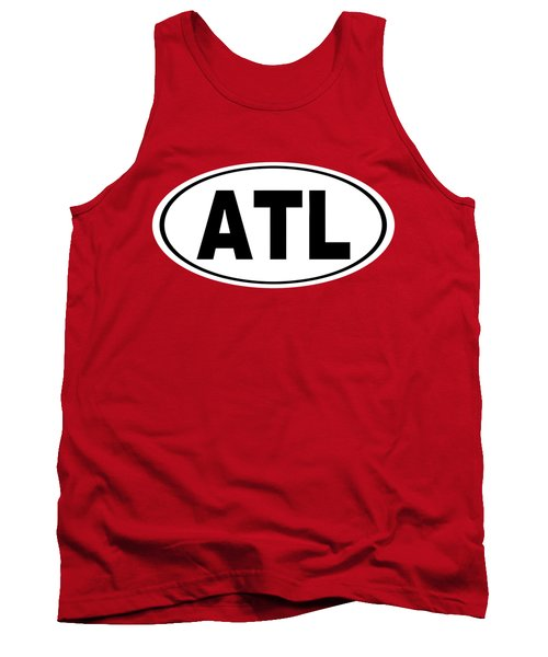 Oval Atl Atlanta Georgia Home Pride Tank Top