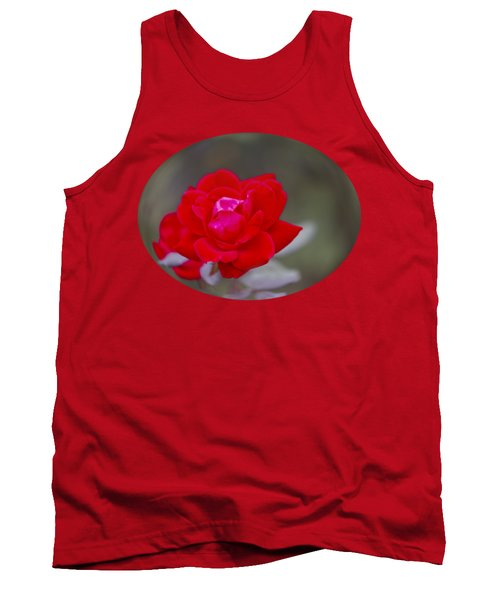 Oval Rose Motif Tank Top