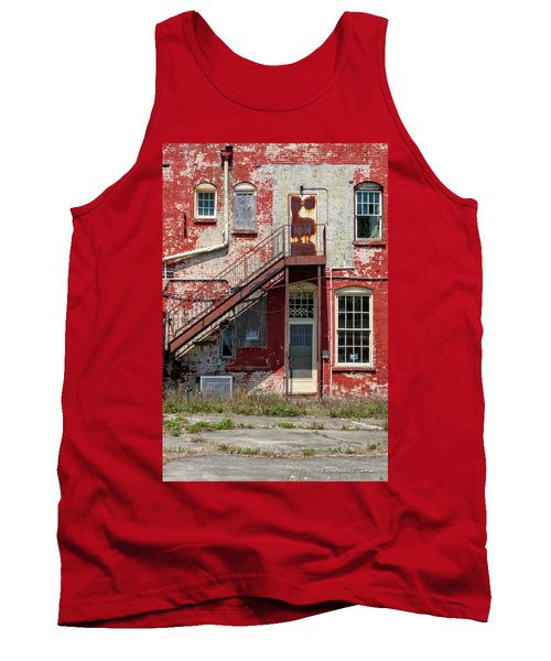 Tank Top featuring the photograph Over Under The Stairs by Christopher Holmes