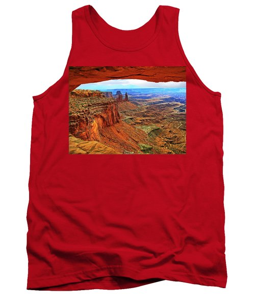 Overlooking Canyonlands National Park    Moab Utah Tank Top