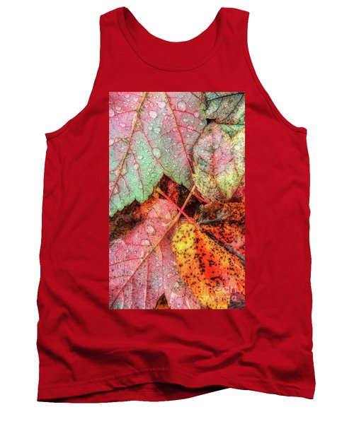 Overnight Rain Leaves Tank Top by Todd Breitling