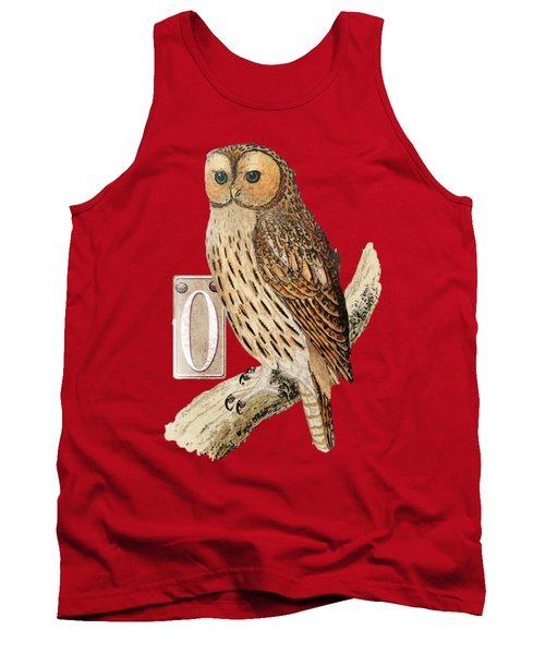 Owl T Shirt Design Tank Top by Bellesouth Studio