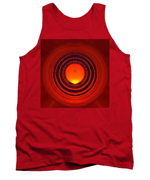 Pacific Beach Pier Sunset - Abstract Tank Top