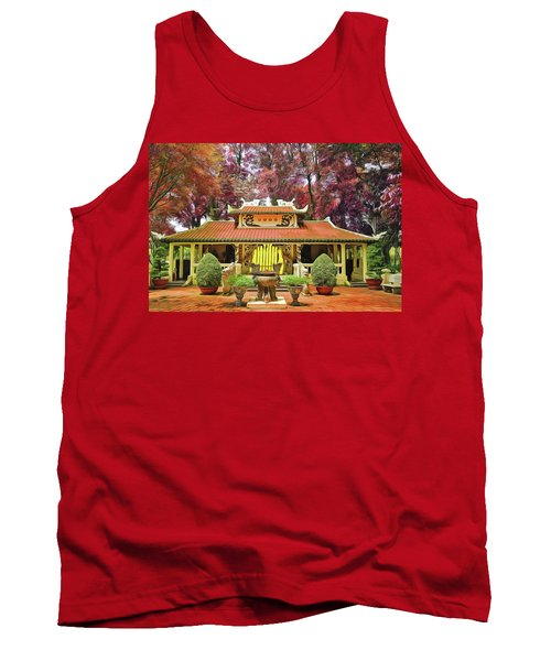 Tank Top featuring the painting Pagoda by Harry Warrick