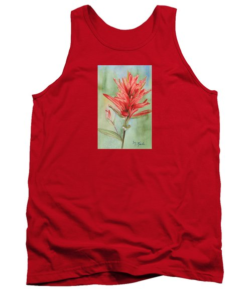 Paintbrush Portrait Tank Top