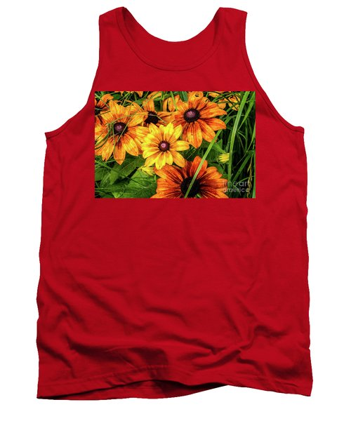 Painted Blossoms Tank Top