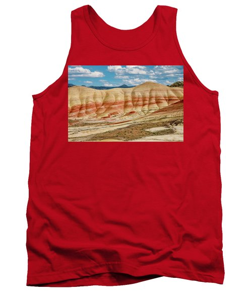 Tank Top featuring the photograph Painted Hills And Afternoon Sky by Greg Nyquist