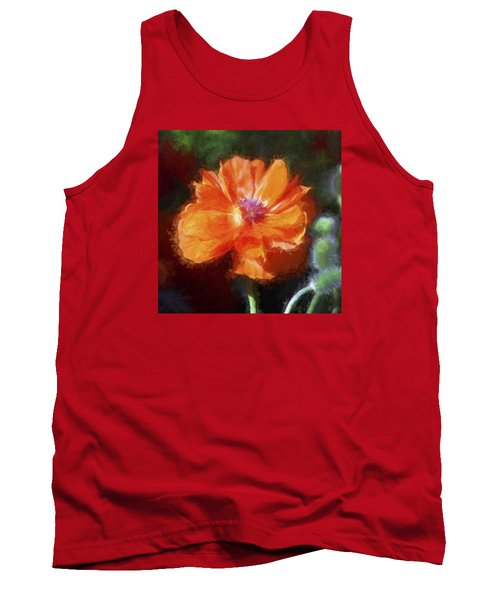Painted Poppy Tank Top