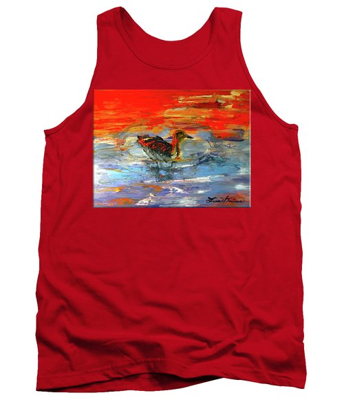Painterly Escape II Tank Top by Lisa Kaiser