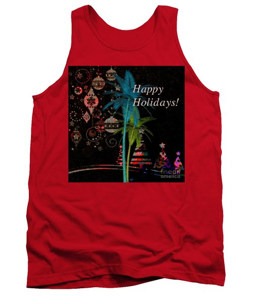 Palm Trees Happy Holidays Tank Top