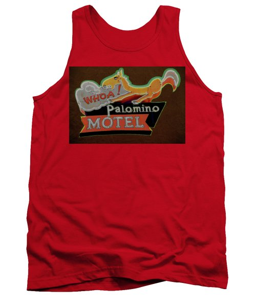 Tank Top featuring the photograph Palomino Motel by Jeff Burgess