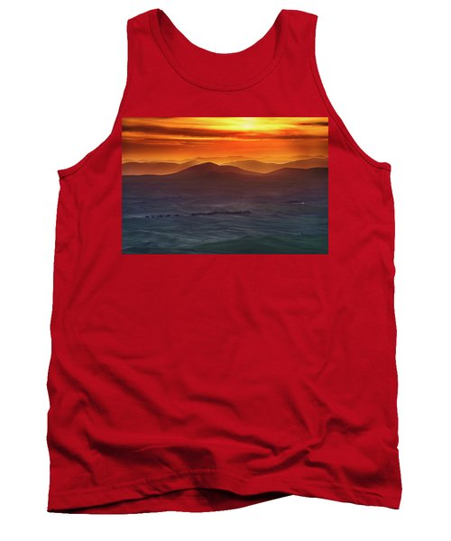 Palouse Sunrise  Tank Top by Ronald Spencer