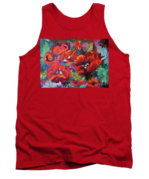 Pamela's Poppies Tank Top