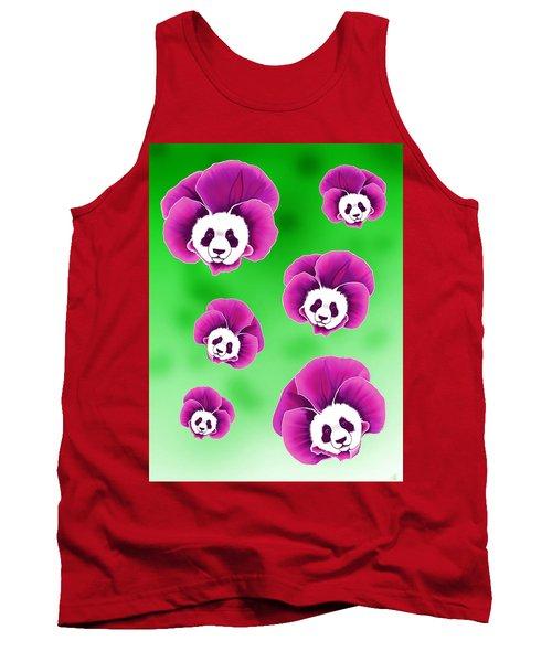 Panda Pansies Tank Top