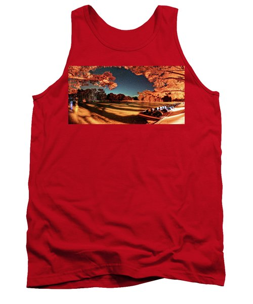 Panorama Of A Starry Night Over The Frio River - Garners State Park - Texas Hill Country Tank Top