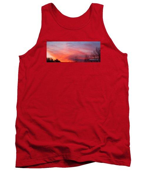 Panorama Sunset  Tank Top by Yumi Johnson