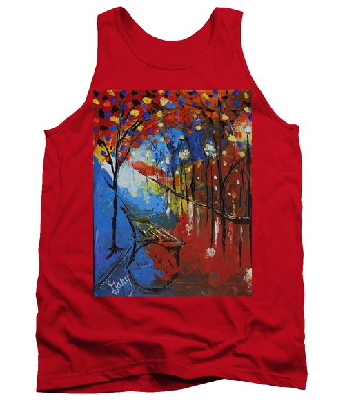 Park Bench Tank Top by Gary Smith