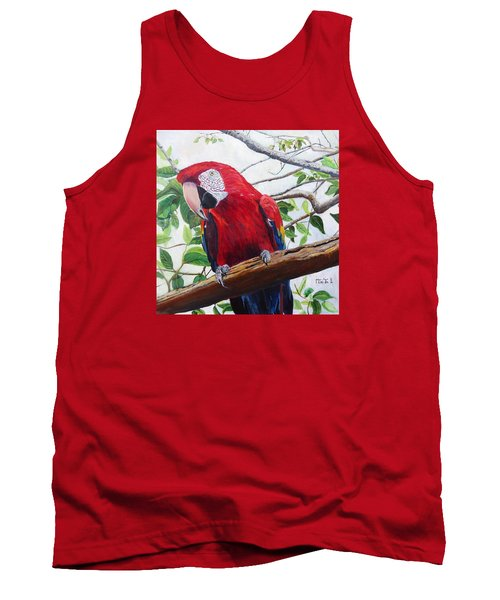 Parrot Portrait Tank Top by Marilyn  McNish