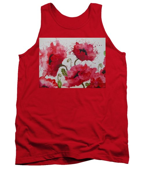 Party Poppies Tank Top