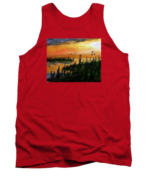 Passing The Rugged Shore Tank Top by R Kyllo