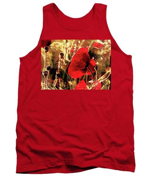 Passionate About Poppies Tank Top