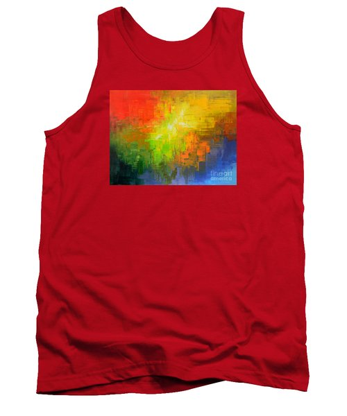 Tank Top featuring the painting Passionate Plumage by Tatiana Iliina