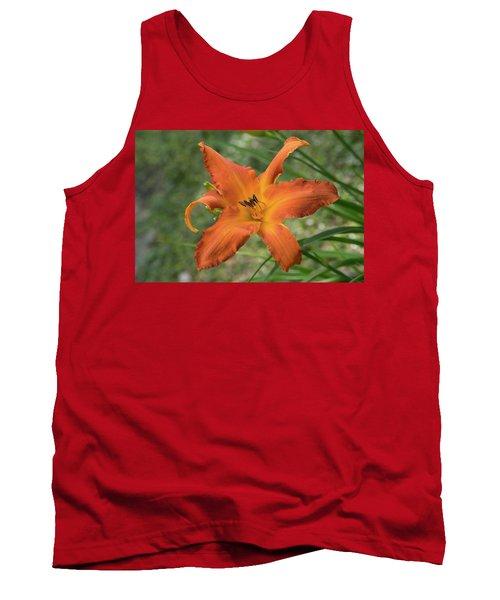 Pastel Orange Lily Tank Top