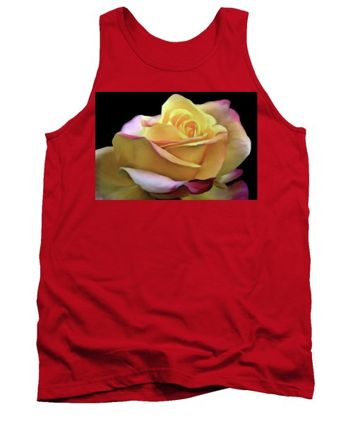 Pastel Yellow Rose Canvas Proofed Tank Top