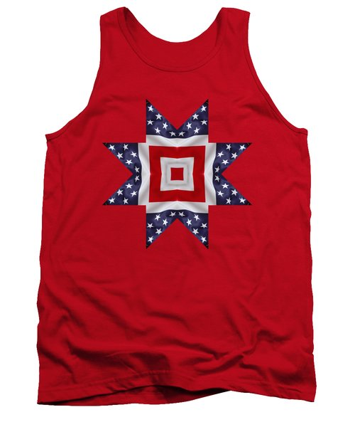 Patriotic Star 1 - Transparent Background Tank Top