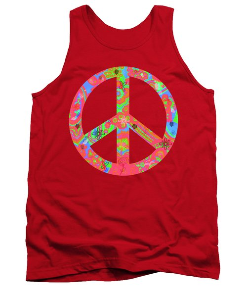 Tank Top featuring the digital art Peace by Linda Lees