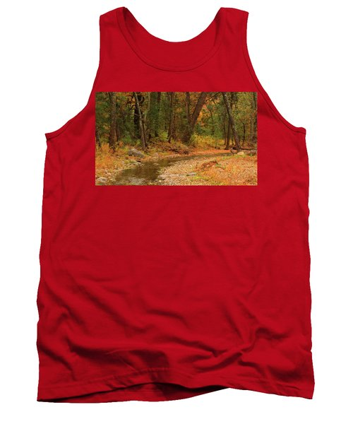 Peaceful Stream Tank Top by Roena King