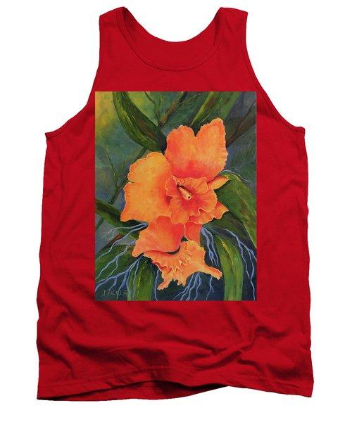 Peach  Blush Orchid Tank Top