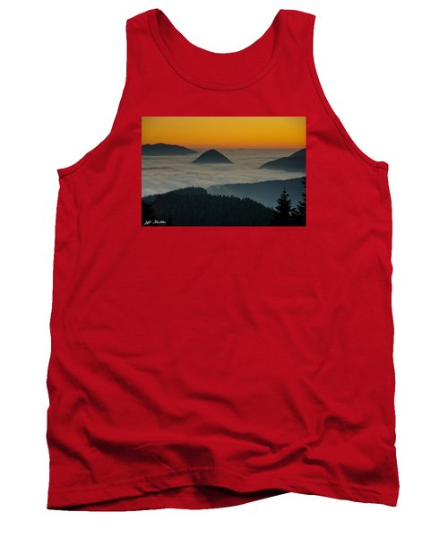 Peaks Above The Fog At Sunset Tank Top by Jeff Goulden