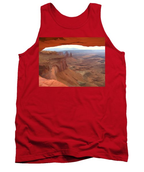 Peering Out 2 Watercolor Tank Top
