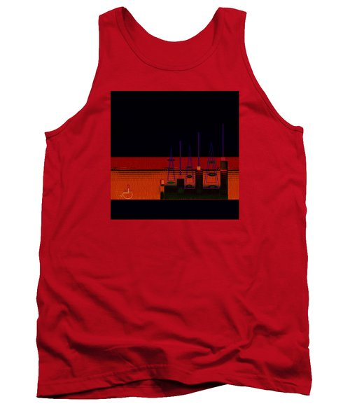 Tank Top featuring the painting Penman Original-271-getting Past The Obstacles by Andrew Penman