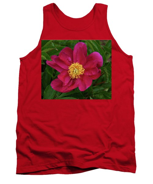 Tank Top featuring the photograph Peony In Rain by Sandy Keeton
