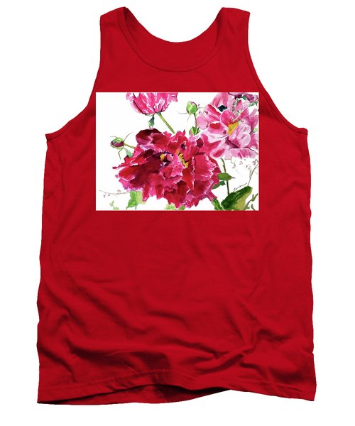 Tank Top featuring the painting Peony by Patti Ferron