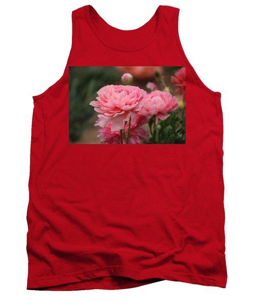 Peony Pink Ranunculus Closeup Tank Top